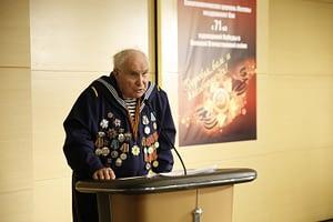 Выступление ветерана ВОВ в Саентологической церкви Москвы на праздновании 9 мая