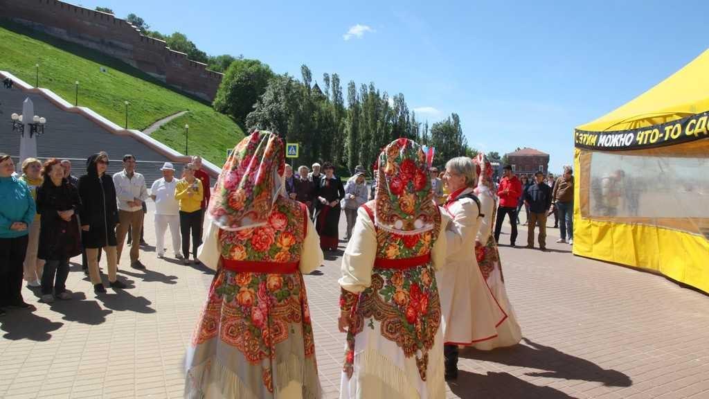 Выступление ансамбля «Бабье лето» на мероприятии Тура Доброй Воли.