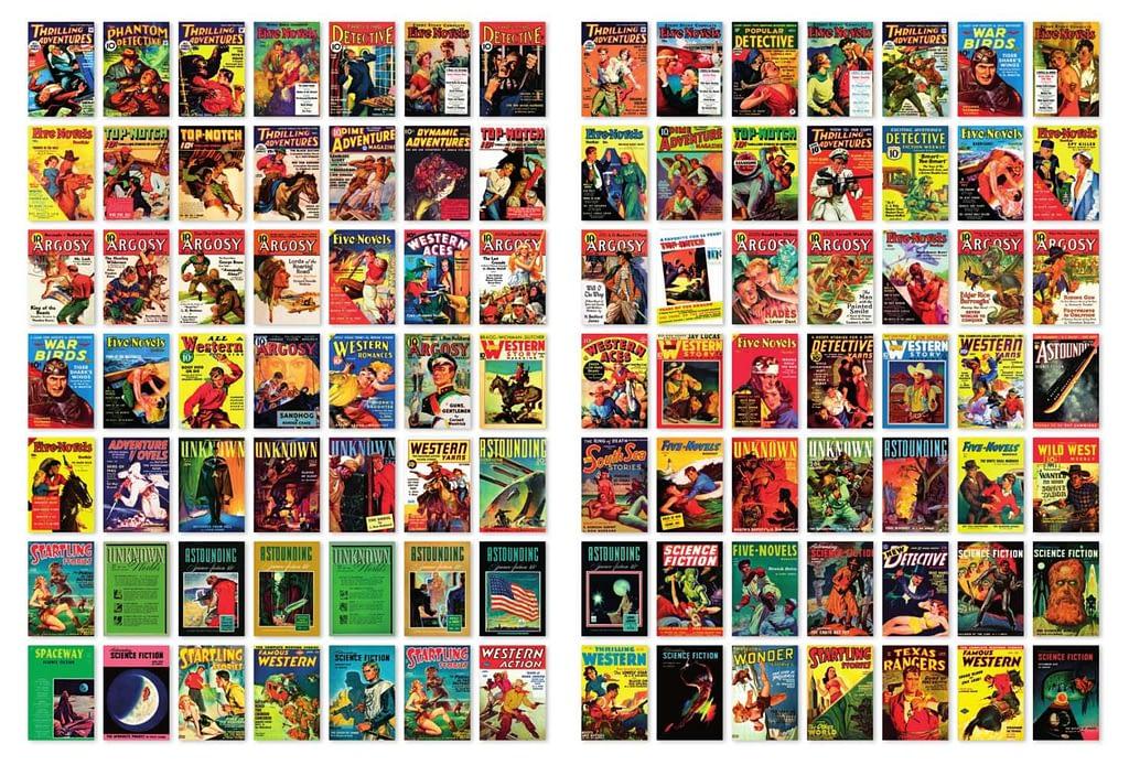 Немногие из палп-журналов с произведениями Хаббарда.
