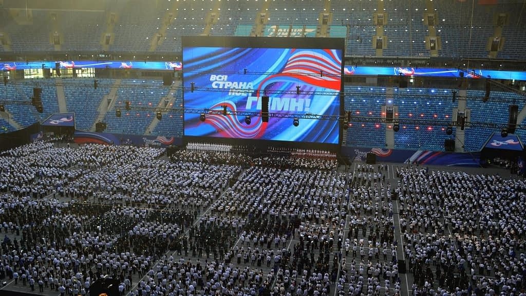 Петербургские саентологи приняли участие в акции «Вся страна поет гимн»