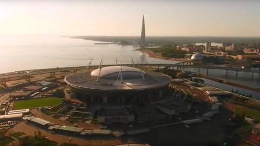 Стадион «Газпром Арена» в Санкт-Петербурге