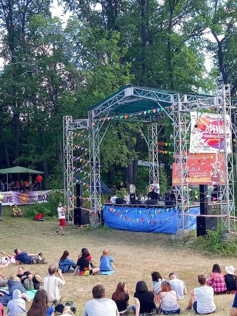 Одна из площадок Грушинского фестиваля