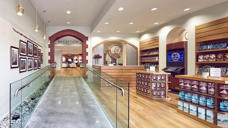Саентология в Австралии: книжный магазин в идеальном здании Церкви Саентологии в Мельбурне