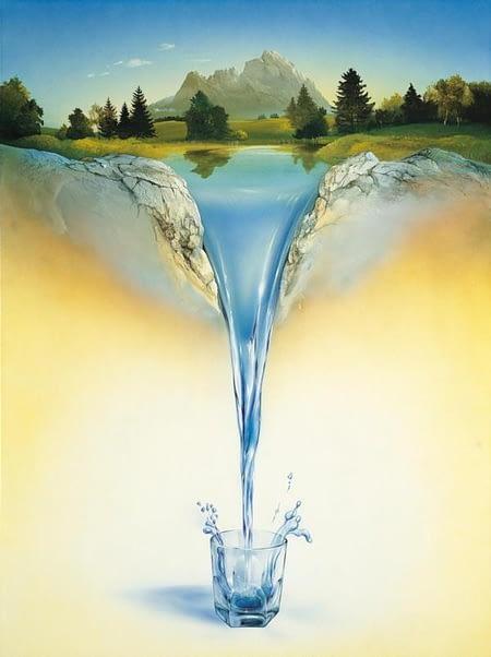 «Вода и лес», картина Карла Рёрига