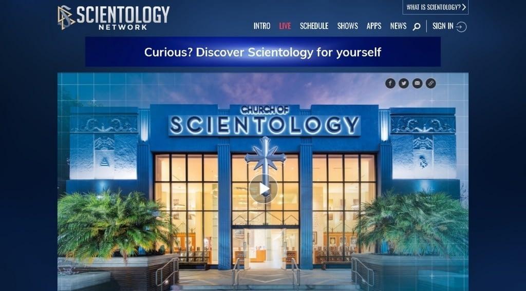 Сайт саентологического телевидения