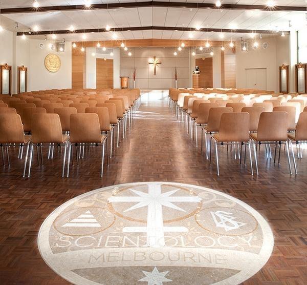 Саентология в Австралии: часовня в идеальном здании Церкви Саентологии в Мельбурне