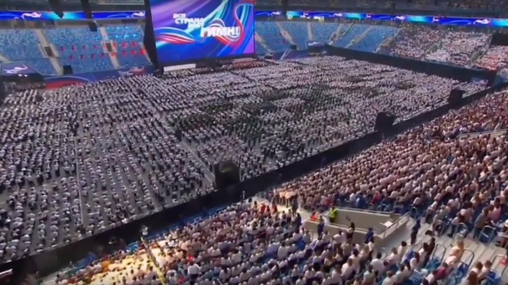 Фото из видео «День Гимна РФ в Санкт-Петербурге 01.09.2019. Рекорд Гиннеса».
